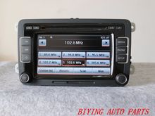 Used 5K0035190B Radio EU RCD510 With Code Original For VW Golf 5 6 Jetta CC Tiguan Passat 5K0 035 190 B