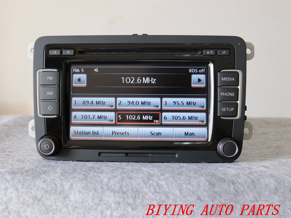 used 5k0035190b radio eu rcd510 with code original for vw. Black Bedroom Furniture Sets. Home Design Ideas