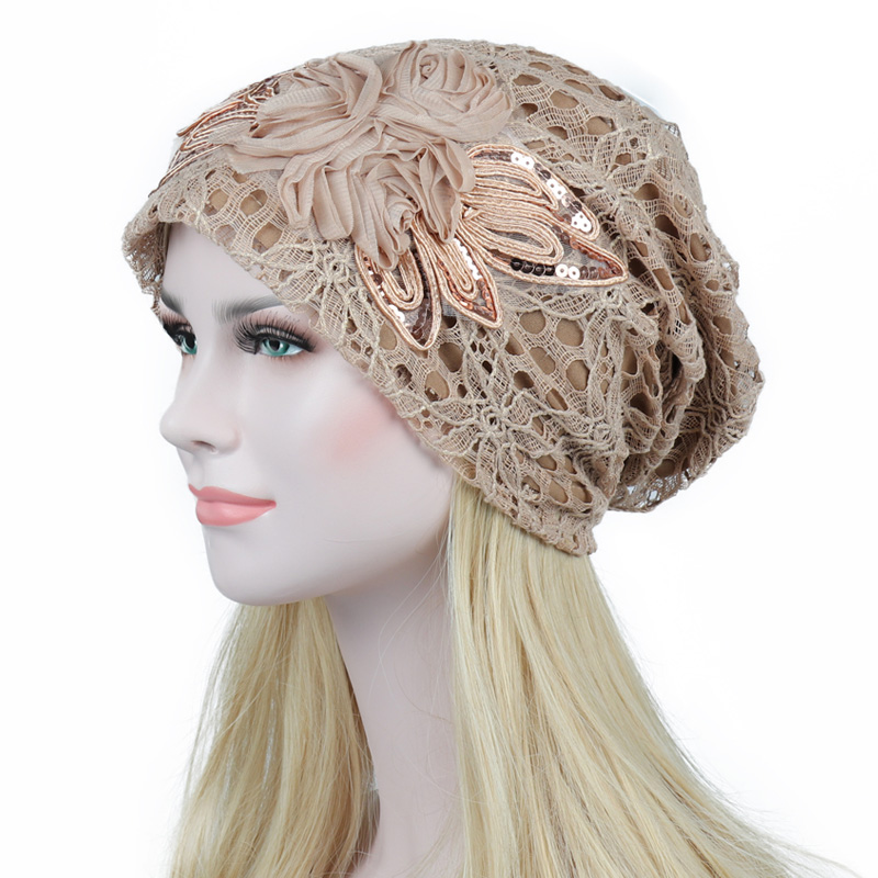 Spring Autumn Hat For Women   Skullies     Beanies   Women Fashion Warm Cap Unisex Elasticity Knit   Beanie   Hats Gorros Female Lace Caps