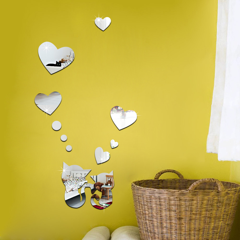 Amazing Heart Shaped Wall Decor Composition - Wall Art Collections ...