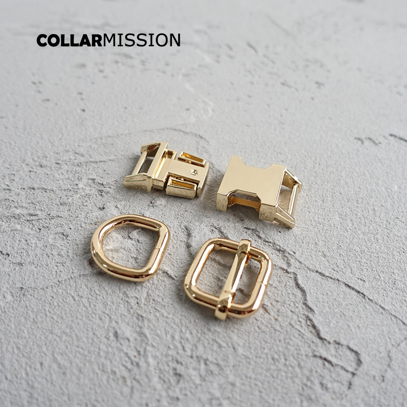 20 stks/partij 15mm Metal Plated Gesp (Metalen Gesp + Passen Gesp + D Ring/set) voor Rugzak Tas Kat Halsband DIY Accessorys-in Gespen & Haken van Huis & Tuin op  Groep 3
