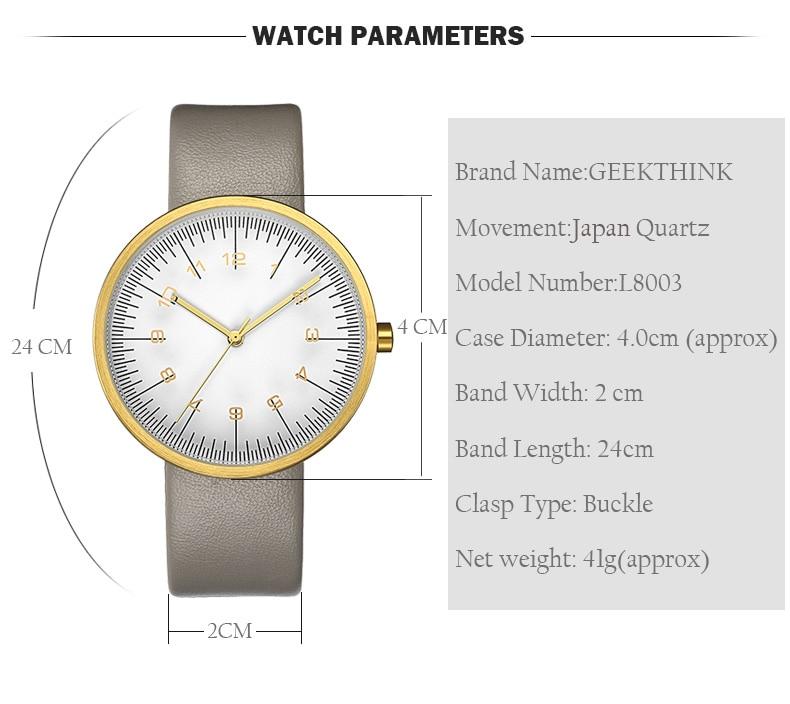 Compre GEEKTHINK Top Marca De Lujo Reloj De Cuarzo Hombres Correa De ... a5c0529eade6