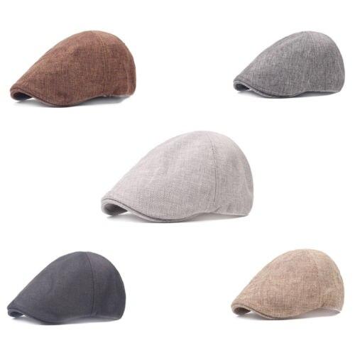 New Men Casual Solid Basic Ivy Hat Cap Golf Driving Sun Flat Cabbie Berets