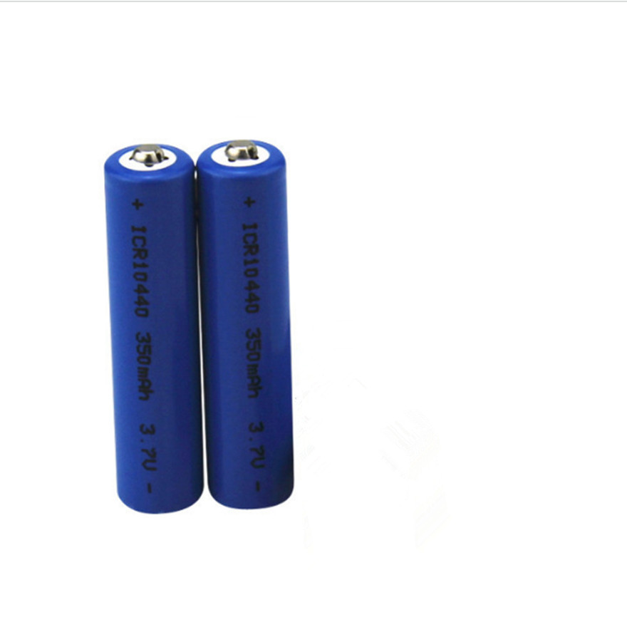 2pcs/lot High quality 3.7v 10440 lithium battery flashlight electronic cigarette 350MAH <font><b>AAA</b></font> rechargeable battery image