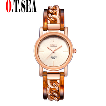 Scorching Gross sales O.T.SEA Model Rose Gold Bracelet Watches Ladies Women Gown Quartz Wristwatches Relogios Feminino 2125