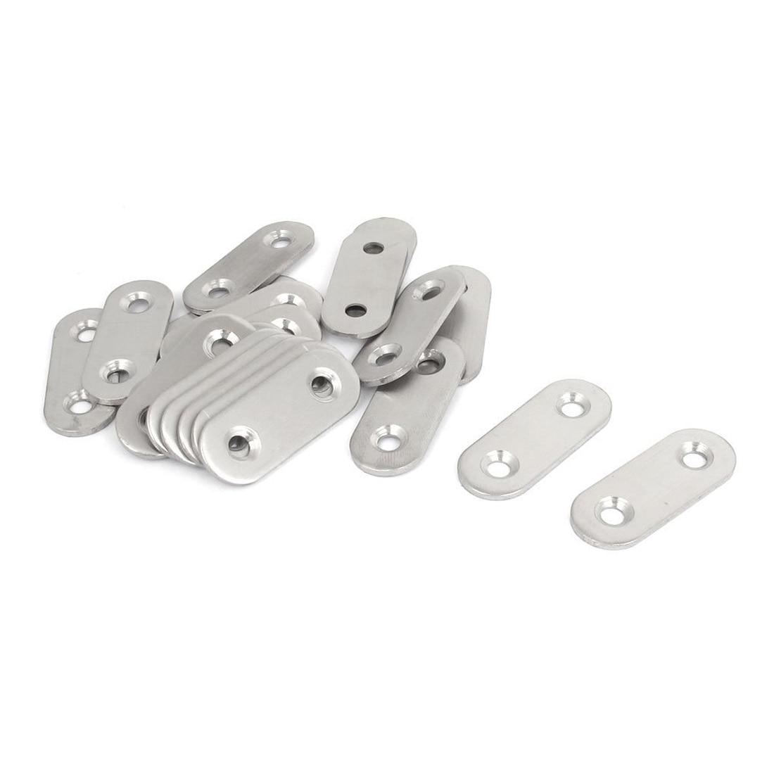 Stainless Steel Flat Bracket Straight Mending Fixing Plates 40mm 20pcs