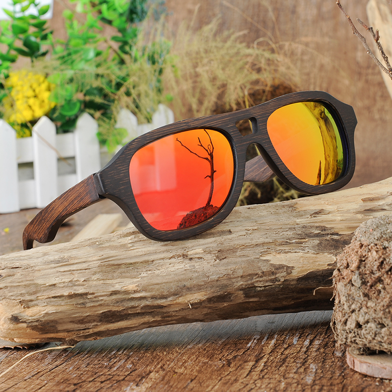 Yellow Red Polarized Sunglasses for women and men BOBO BIRD (13)