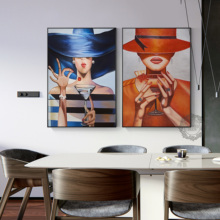 Abstract Canvas Dining Room Decoration Painting Oil Modern Contracted Living Figure Nordic