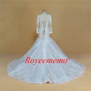 Image 4 - Champagne e marfim vestido de casamento do projeto do laço especial clássico estilo sereia do vestido de casamento custom made fábrica de preços por atacado