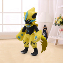 10'' 25CM Yellow Zeraora Cartoon Plush Toy Anime Pikachu Soft Stuffed Animals Peluche Doll Kids Toy for Children Christmas Gift toyo observe gsi 5 185 60 r14 82q