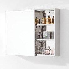 Stainless steel bathroom mirror cabinet bathroom lens storage box accept size order