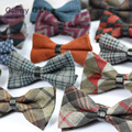 2016 wedding wool bow tie plaid bowtie man mariage neckwear male papillon neck wear high quality