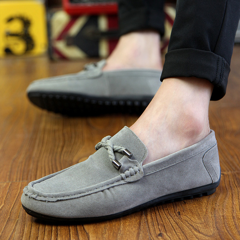 Whoholl Men Casual Shoes 2017 Fashion Men Shoes Leather Men Loafers Moccasins Slip on Men's Flats Loafers Male Shoes Black Gray cyabmoz mens casual shoes top fashion genuine leather men loafers moccasins zipper slip on men s flats male shoes zapatos hombre