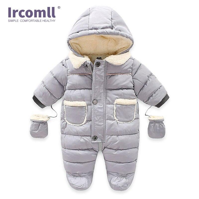 Детский комбинезон Ircomll, Осенний флисовый комбинезон с капюшоном для маленьких девочек и мальчиков, Детская верхняя одежда