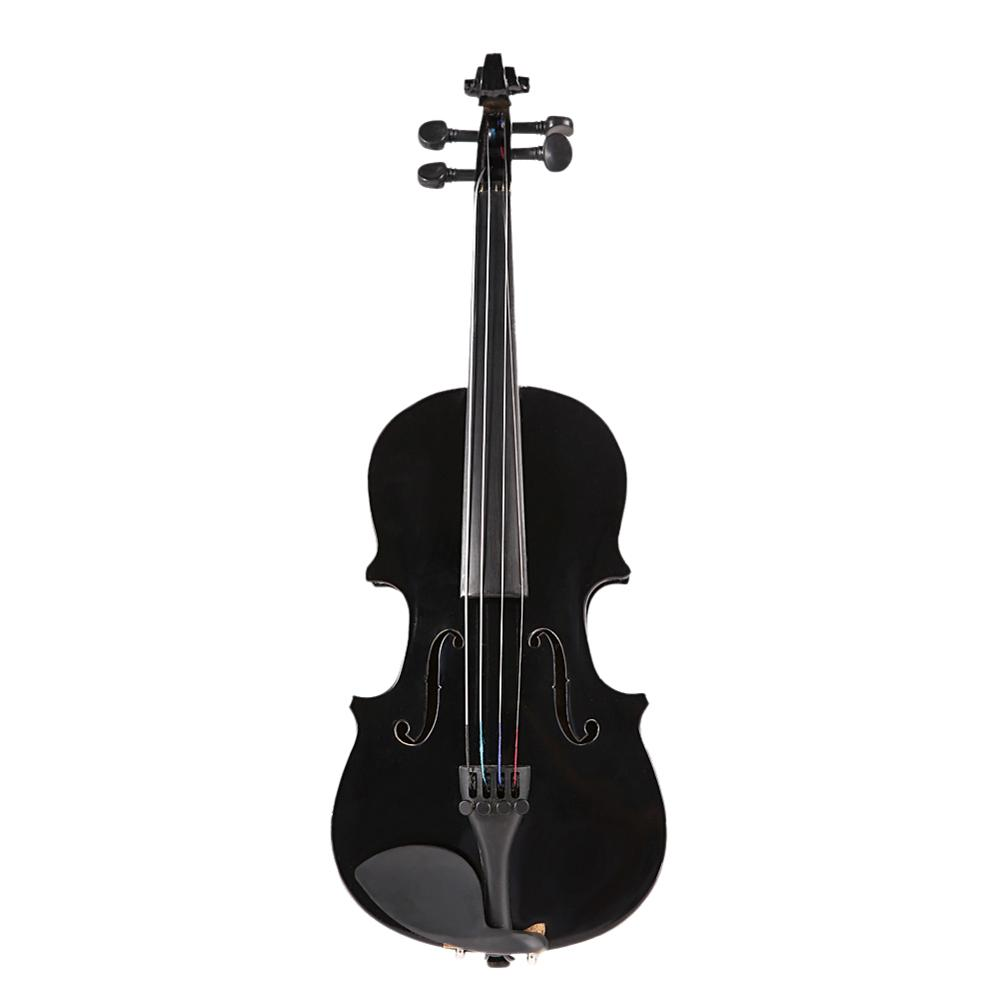 1 8 Size Gloss Natural Acoustic Violin Fiddle with Case Bow Rosin Musical Instrument Pink Blue Black 2019 New Dropshipping in Violin from Sports Entertainment
