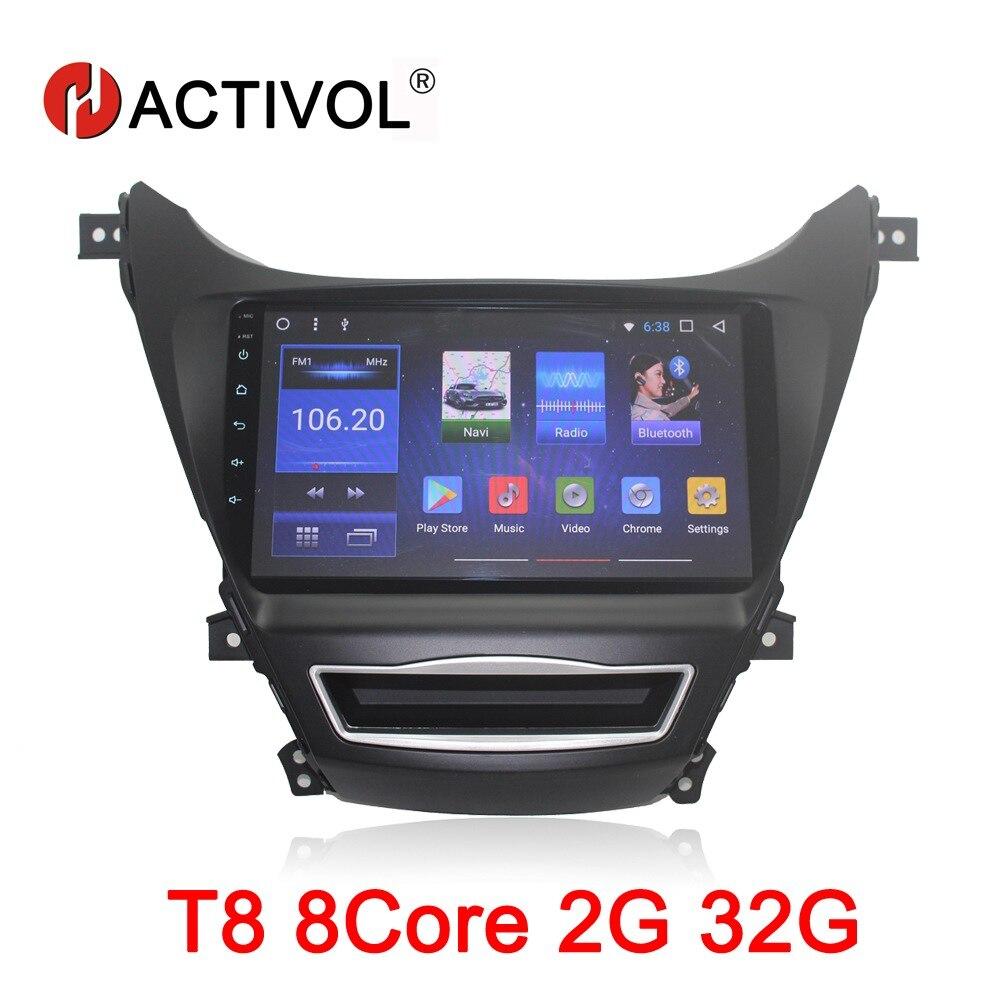HACTIVOL 9 Octa Core 2G RAM 32G Car radio for Hyundai Elantra 2012 2016 Android 8
