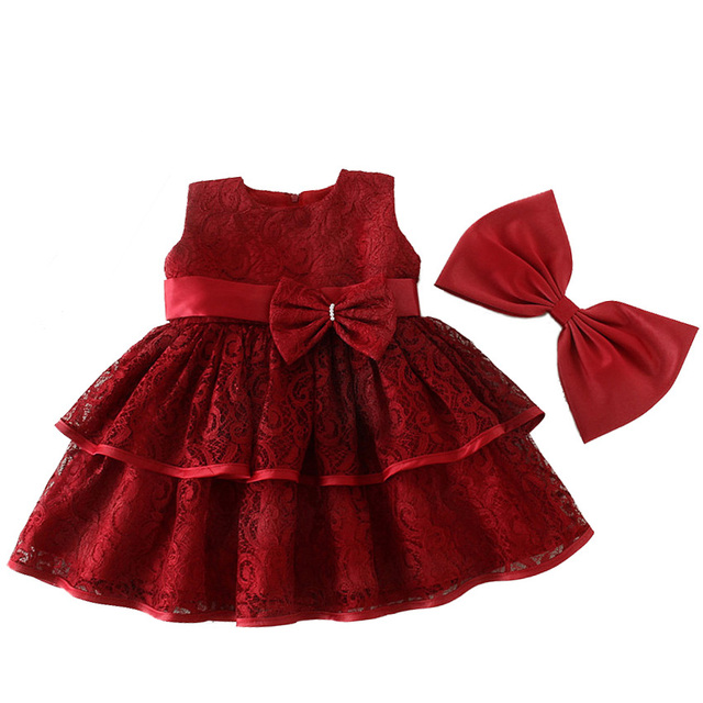 576440a60 Brand Child Baby Girls Dress Princess Christmas Gown First 1 Year Birthday  Dresses Infant Wedding Party