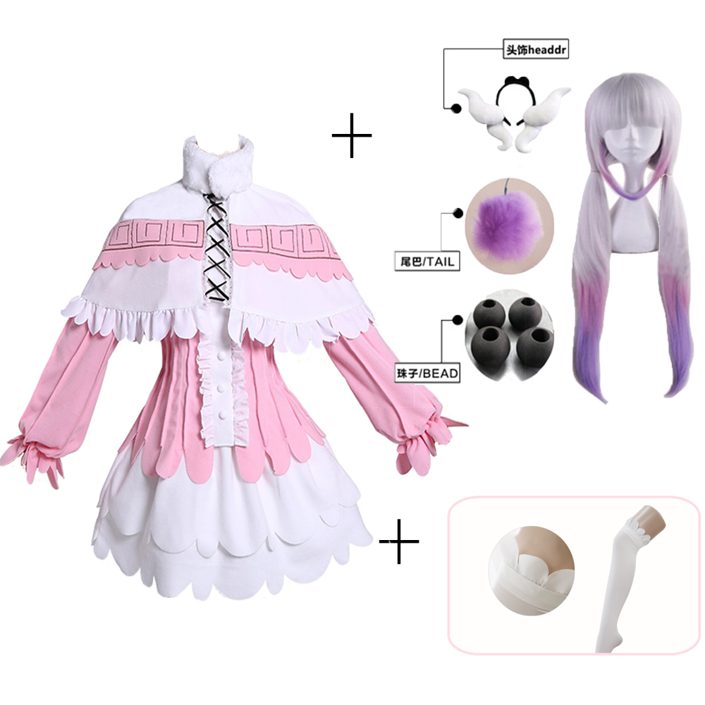 Kanna Cosplay Japanese Anime Miss Kobayashi's Dragon Maid Kamui Kanna Cosplay Costumes Halloween Party Kawai Dress For Women Wig