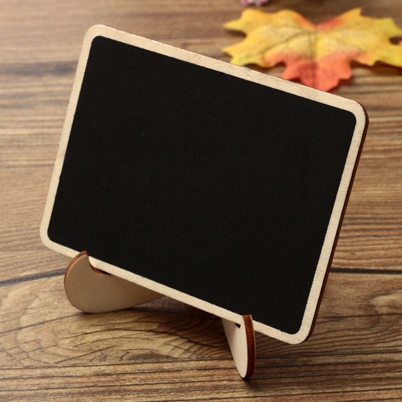 Greatest 10pcs Lovely Mini Wooden Message Blackboard Chalkboard with Stand  AA95