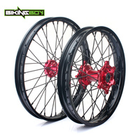 BIKINGBOY MX 21 19 передний задний обод колеса концентратор набор 36 спицы для HONDA CR125R CR250R 2002 2013 CRF250R CRF450R CRF250X CRF450X