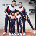 Family fashion family pack Casual wear Sports clothes  Red Blue Spring Autumn family campus sports meeting family set Coat+pants