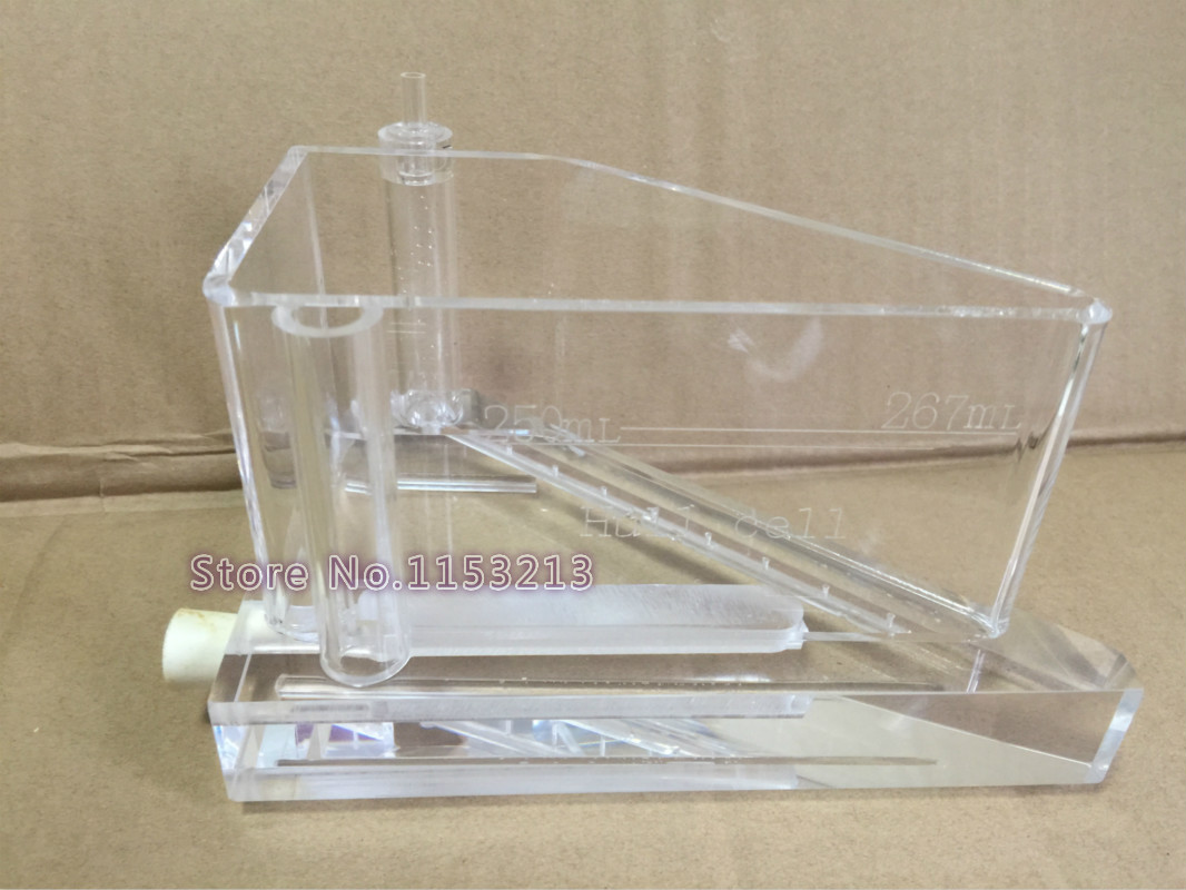 groove plating 267ml Hull Cell Testing Equipment ( Air Agitated ) Hall groove free shipping