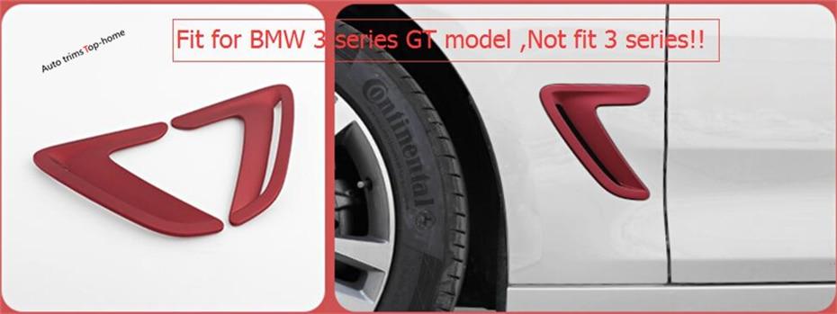 For BMW 3 Series GT 320i 328i 316i 2013 - 2017 ABS Outer Body Leaf Panel Air AC Outlet Vent Molding Garnish Cover Trim 2 Pcs полуось на bmw 316i в беларуси