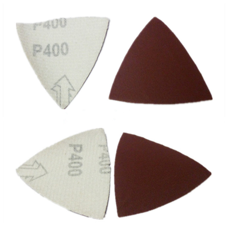 100PCS A Pack 80*80*80mm Triangle Abrasive Sanding Paper