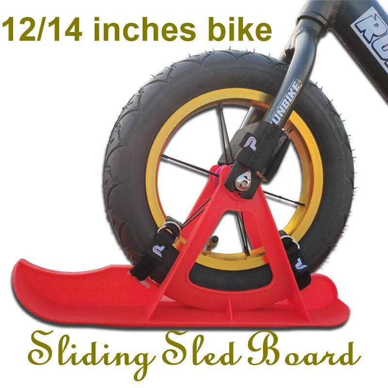 Enfants de voiture de l'équilibre skis 12/14-pouces universelle ski ski vélo adapté pour Stri Kokua puky 90/100 Snowboard Luge