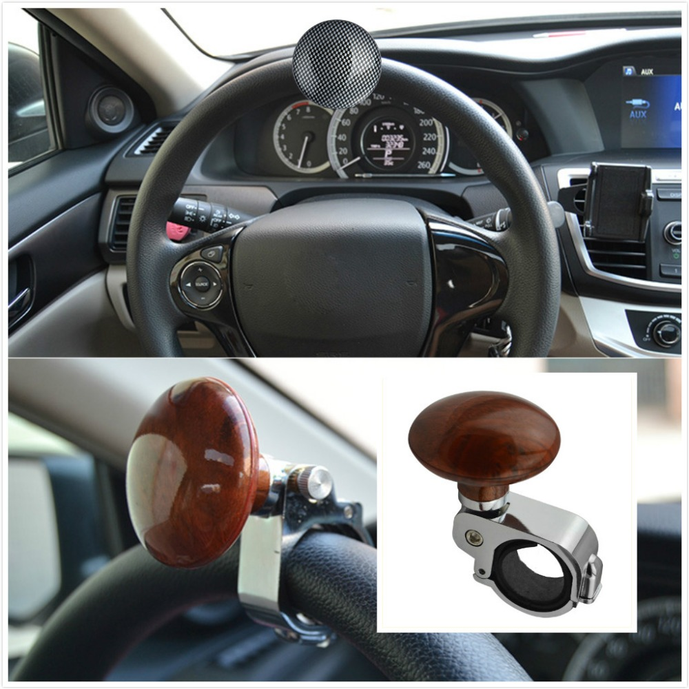 Electric Vehicle Parts Car Steering Wheel Spinner Knob Auxiliary Booster Aid Control Handle Grip Black