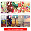 For Micromax Q380 DIY Painted Solf TPU Mobile Phone Case for Micromax Q380 Q 380 Flip Cover High Quality Capa Fundas case