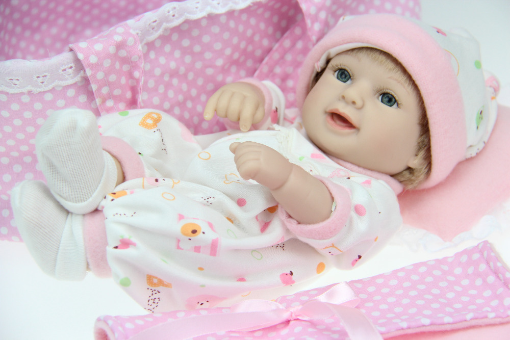 """The New 10/"""" soft silicon vinyl doll Reborn baby doll Mini Girl Doll Hot Sale"""