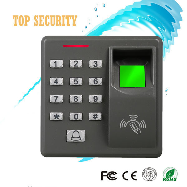 Biometric fingerprint and card access control with 10pcs RFID keyfob F110 card reader fingerprint access control system with key