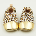 Wholesale Newborn Baby Pure Cotton Cartoon Design Lovely Soft Soled Anti-slip Leopard Printed Decor Infants First Walker