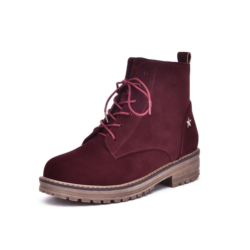 da53e202e133 2018 automne hiver femmes cheville bottes nouvelle mode femme bottes pour  filles dames travail chaussures plus la taille 34 43 dans Bottines de  Chaussures ...