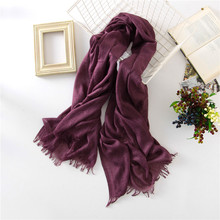 new 2017 solid cotton scarf soft and large size women scarves pashimina lady winter scarves candy color 200*110cm candy ccfa 200