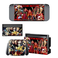 Anime One Piece Decal Nintendo Switch NS Console + Joy-Con Controller + Dock Station