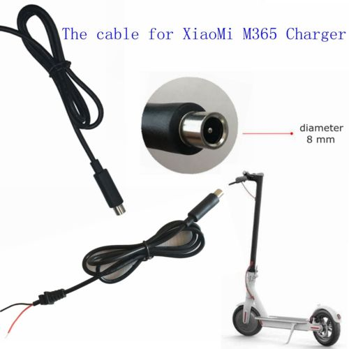 DC 8mm cord for 42V 2A Xiaomi Mijia M365 Electric Scooter Charger Accessories 1 meter long 24amg High quality power cord