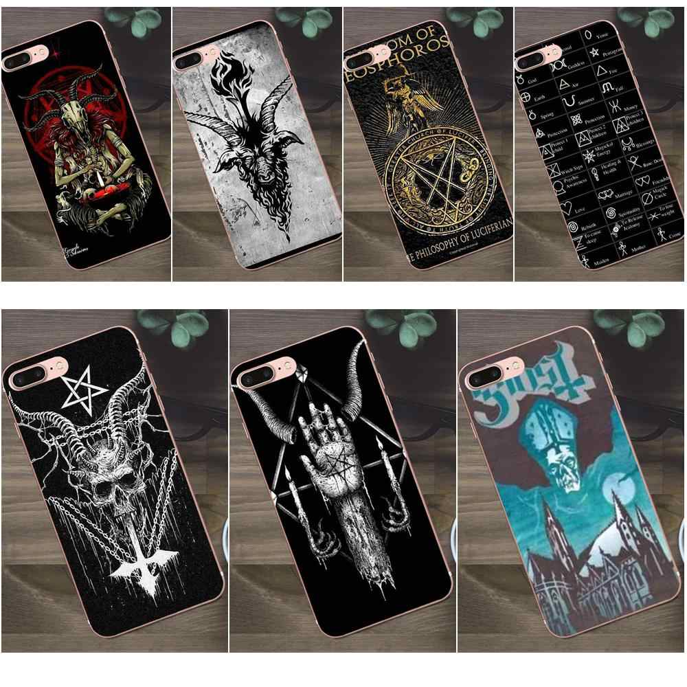 Bixedx TPU Cases For Apple iPhone X 4 4S 5 5C SE 6 6S 7 8 Plus Galaxy A3 A5 J1 J2 J3 J5 J7 2017 Satan Pentagram Occult Evil