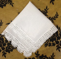 Fashion Women's Handkerchiefs 12PCS/Lot 12x12White Cotton Wedding Handkerchiefs Embroidered Lace Hankies For Special Occasions