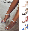 Fashion Classics Brand ZA R Peep toe Buckle trap Stiletto High Heels Sandals Shoes Woman Blue White Red Wedding Shoes Factory 43