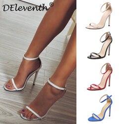 Mode classiques marque ZA R Peep toe boucle piège talons aiguilles sandales chaussures femme bleu blanc rouge chaussures de mariage usine 43