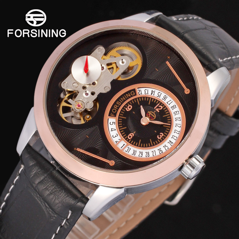 FORSINING FSG8015Q3T2 new Quartz dress watch casual skeleton wristwatch gift for men top quality free shipping цена