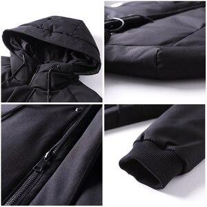 Image 4 - Пионерский лагерь водонепроницаемый материал толстый пуховик зимняя куртка брендовая мужская одежда мода с капюшоном теплая утка пуховик мужской AYR705314