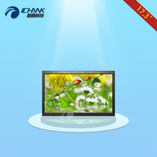 B173TN-ABHUV/17.3 polegada caixa de metal monitor de HD/17.3 polegada 1920x1080 widescreen 16:9 LCD/painel de Parede-pendurar inserir publicidade do Disco de U;