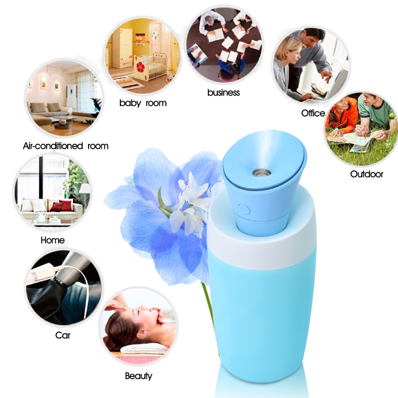 Mini Ultrasonic Cool Mist USB Car Air Humidifier Portable Car Humidifier for home Water Tank Included Mist Maker