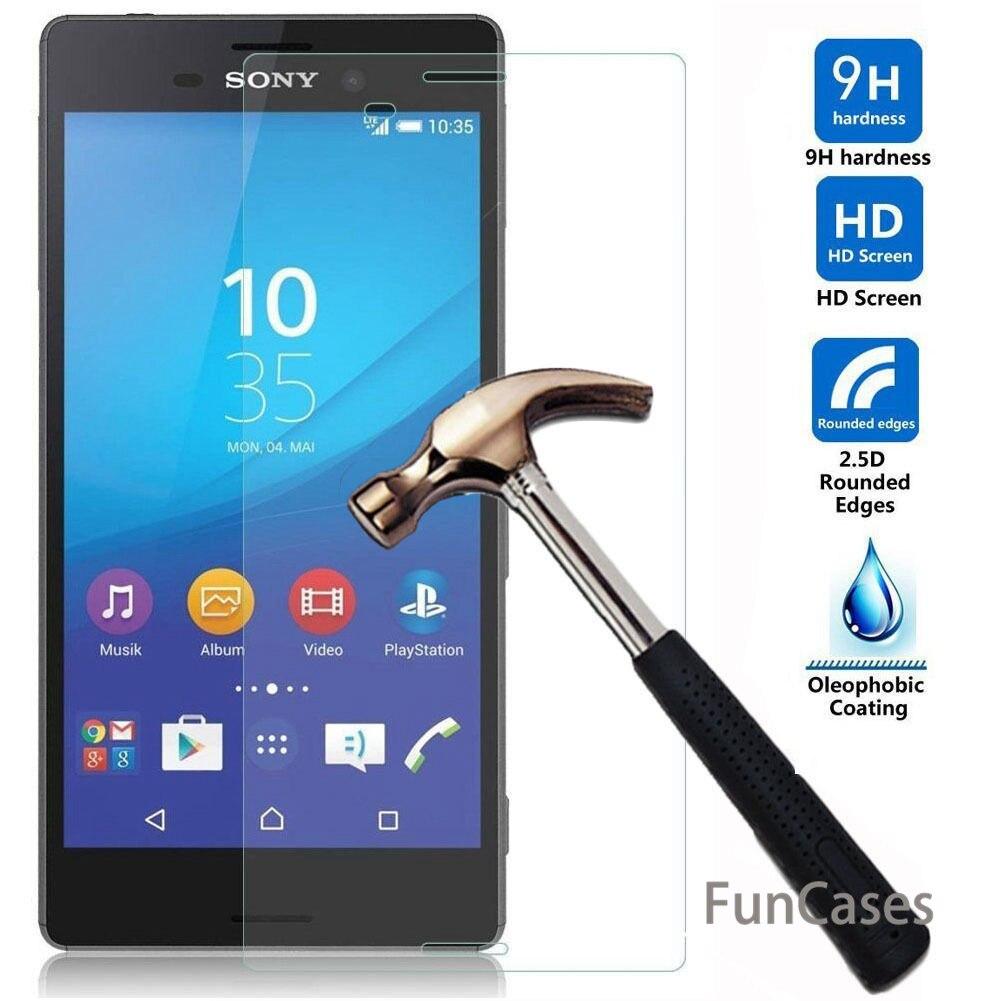 Protector de pantalla HD de alta calidad para SONY Xperia XA2 XA1 Ultra Plus XZ2 compacto M4 Protector de vidrio templado película protectora tapas