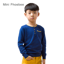 Boy sweaters 2-8T years 100% cotton brand knitted kids pullover sweater for boys sweaters kids knitwear cotton Blue Ash sweaters