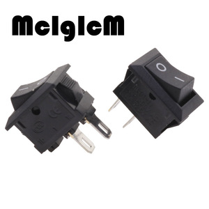 Image 3 - 20 個ミニロッカースイッチ spst 黒と赤でスナップスイッチボタン ac 250 v 3A / 125 v 6A 2 ピン i/o 10*15 ミリメートルオン · オフスイッチロッカー
