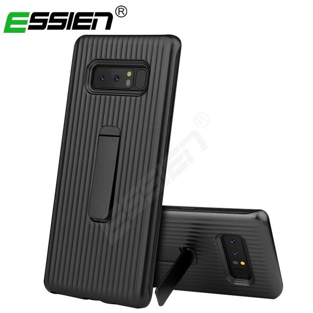 hot sale online 86ed8 274cd US $4.99 |Essien for Samsung Galaxy Note 8 S9 Plus Protective Standing  Cover Armor Smart Bracket Phone Cases for Samsung S8 Plus S7 edge-in Fitted  ...